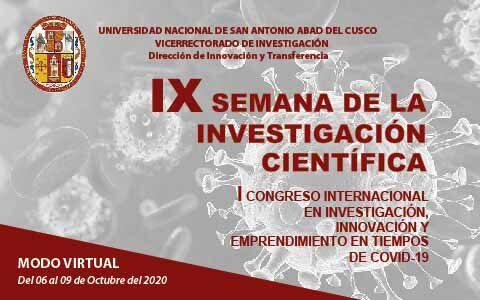IX SEMANA DE LA INVESTIGACIÓN CIENTÍFICA