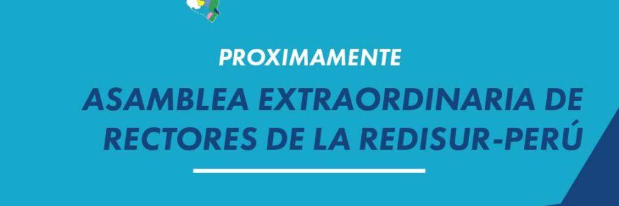 ASAMBLEA EXTRAORDINARIA DE RECTORES DE LA REDISUR-PERÚ